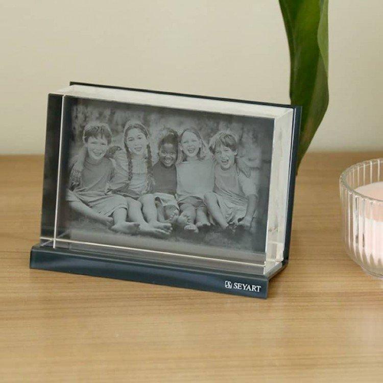 Verre optique personnalisé avec photo gravée 2D ou 3D