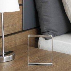 Cristal optico personalizado con foto grabada en 2D o 3D