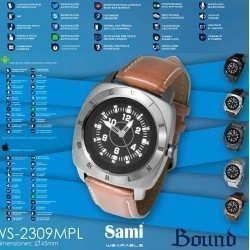 Sami men's smartwatch WS-2309 leather strap