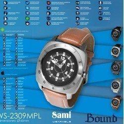 Smartwatch masculino Sami com pulseira de couro WS-2309