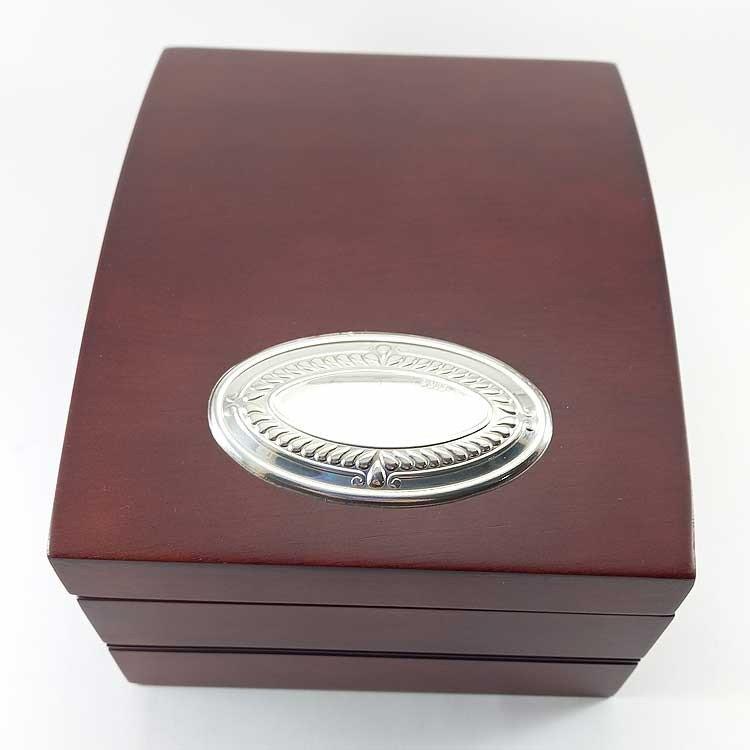 copy of Caja Bodas de Plata -25 aniversario- de madera y plata bilaminada