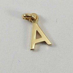 copy of Colgante con letra inicial de oro de ley 18 quilates