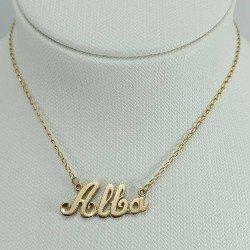 copy of Nombre para colgar en cadena como gargantilla. Oro de ley 18 quilates.