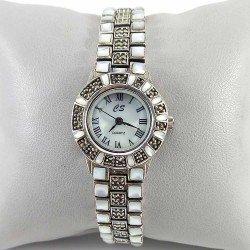 Reloj de señora de plata 925 milésimas y nácar