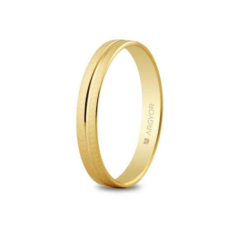 9 or 18 karat gold ring. Yellow or white, with or without diamond.