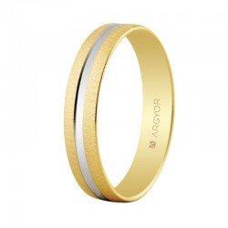 Alianza de boda oro de ley 18 kilates. Oro blanco y rosa.