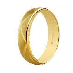 Anillo de boda en oro de 18 kilates diseño zig zag