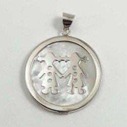 copy of Gargatilla con dos niños en plata de ley 925 y circonitas