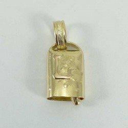 Colgante de campano de vaca en oro de ley 18 quilates