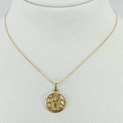 copy of Medalla de la Virgen de la Bien Aparecida en oro de ley 18 quilates, 750 mls.