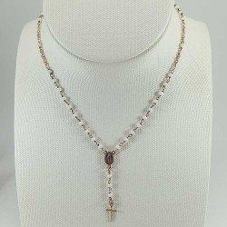 copy of Rosario de mano para primera comunión con perlas, crucifijo y virgen.
