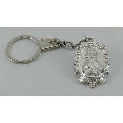 Llavero de mujer Virgen de la Barquera en plata