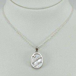copy of Medalla con inscripción: A la mejor profe. Plata de ley 925 milésimas.