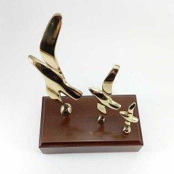 copy of Figuras de delfines- madre y cría - de bronce como regalo decorativo