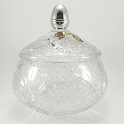 copy of Bombonera pequeña de cristal con adorno de plata 925