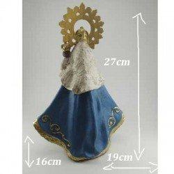 Talla de la Virgen de la Barquera grande en resina