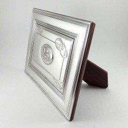 copy of Placa conmemorativa de bodas de oro, 50 aniversario, en plata bilaminada