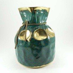 copy of Figura de un buho de cristal decorado con oro 18k.