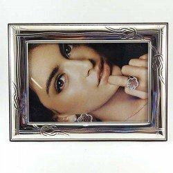 copy of Marco de fotos tamaño 16 x 12 cm de plata bilaminada con mariposas