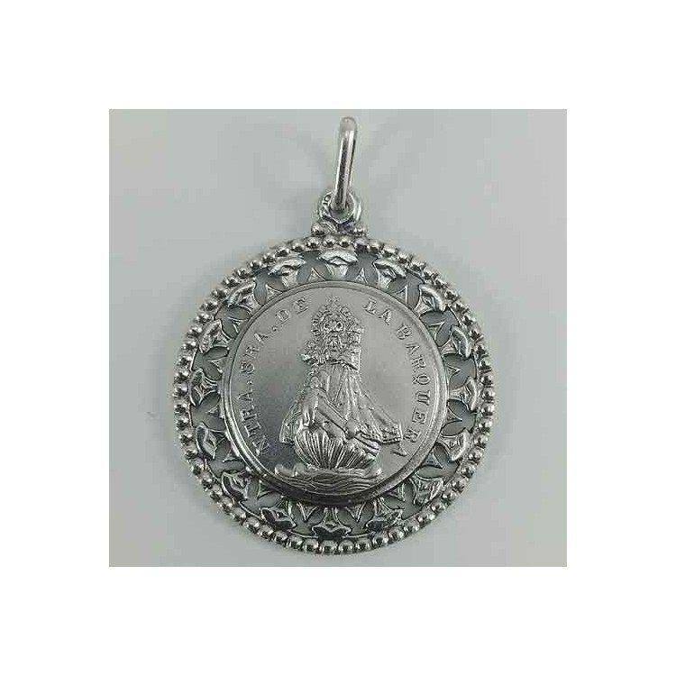 Medalla de la Virgen de la Barquera en plata 925