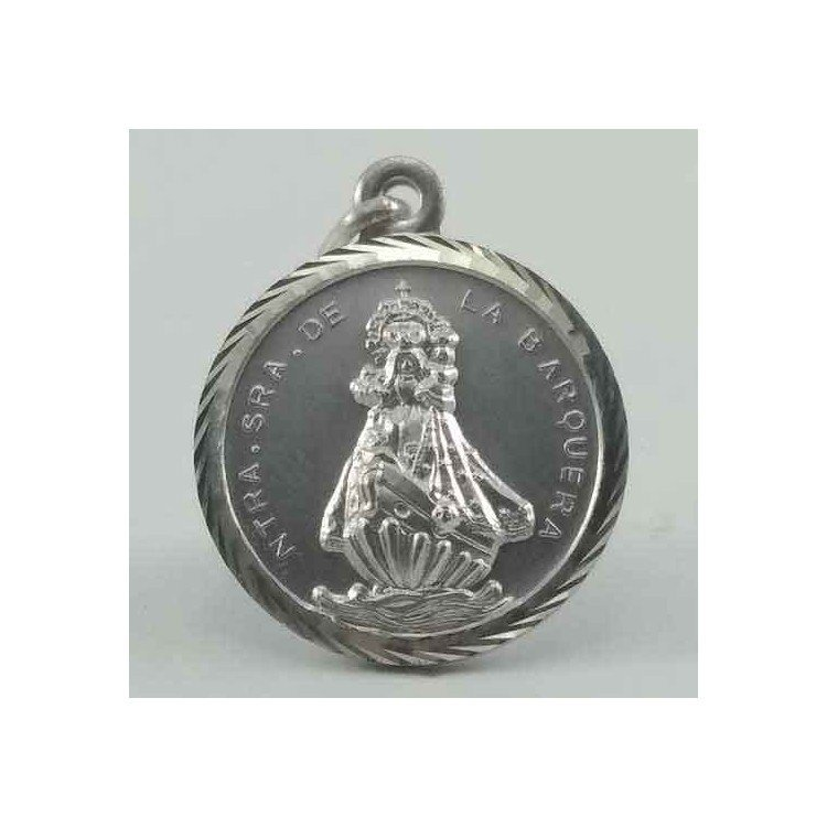 Medalla clásica Virgen de la Barquera en plata 925