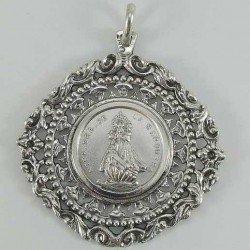 Medallón de la Virgen de la Barquera en plata de ley 925