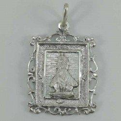 Medalla cuadrada de la Virgen de la Barquera