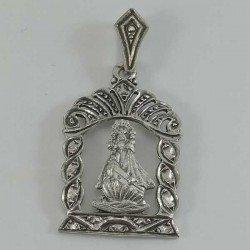 Colgante de la Virgen de la Barquera en plata 925