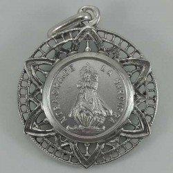 Colgante de la Virgen de la Barquera de plata de ley