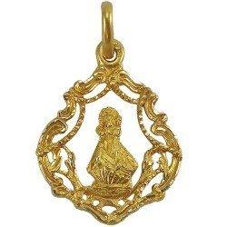 Medalla calada de la Virgen de la Barquera en oro de 18 quilates
