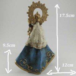 Talla de la Virgen de la Barquera pequeña en resina
