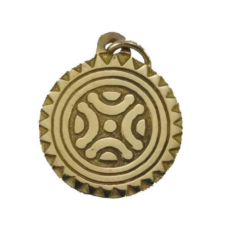 Estela de Cantabria de oro de 18 quilates artesanal.