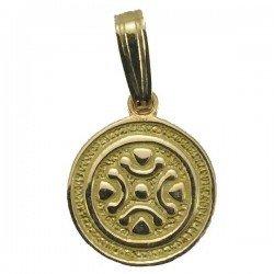 Colgante de la Estela de Barros en oro de ley 18 quilates. 12mm.
