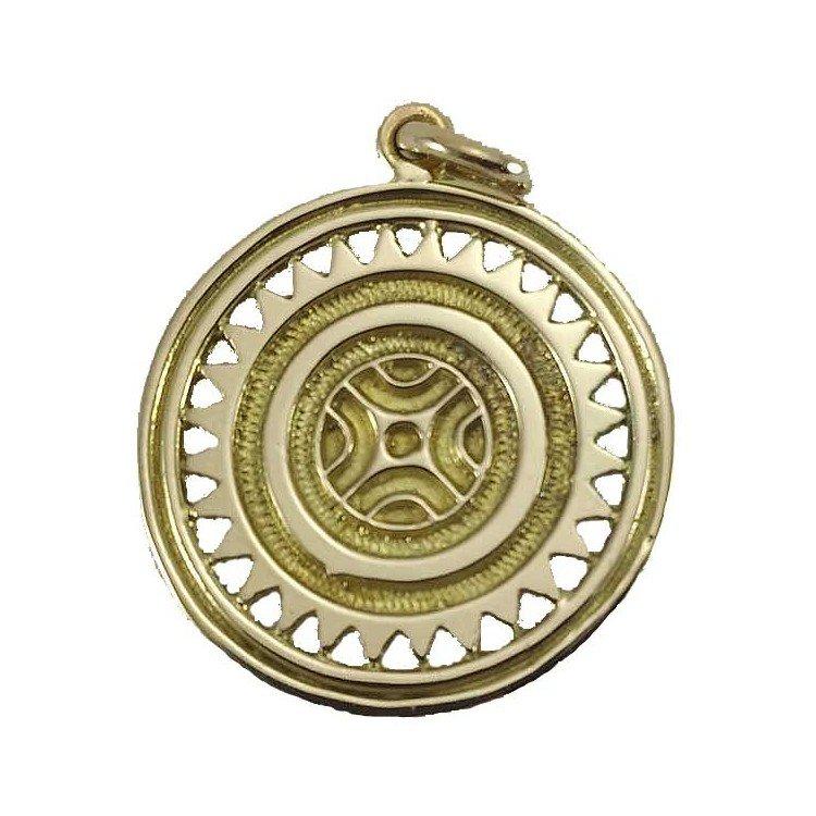 Estela de Cantabria (Barros) de oro de ley 18 quilates. 28mm.