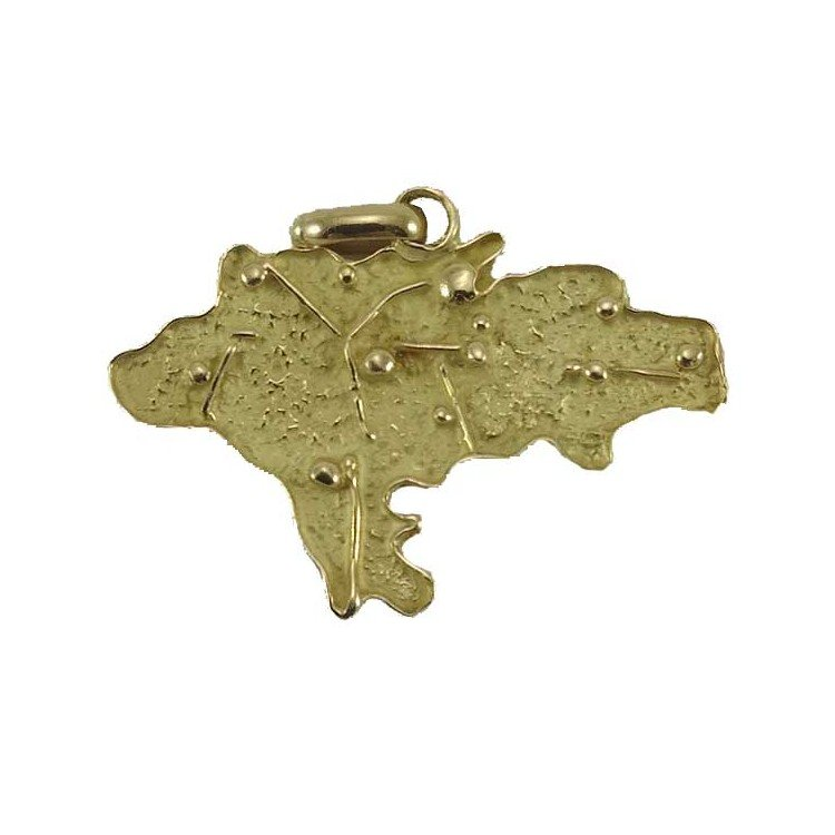 Colgante mapa de Cantabria en oro de 18 quilates