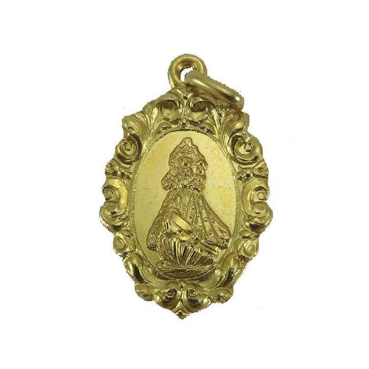 Medalla de la Virgen de la Barquera en oro de primera ley
