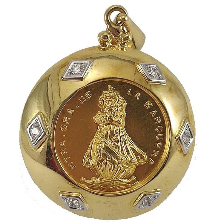 copy of Medallón de la Virgen de la Barquera en oro de ley 18 quilates