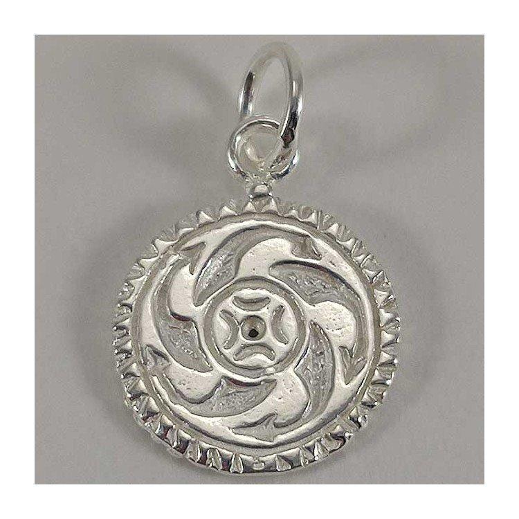 Colgante Estela de Cantabria doble (Barros y Lombera) en plata 925