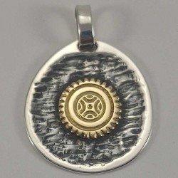 copy of Colgante de la estela de Cantabria en plata 925 y oro 18 k