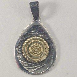 Colgante de la estela de Cantabria en plata 925 y oro 18 k