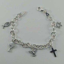 Pulsera de plata 925 mls. de la religión cristiana
