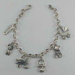 Brazalete de plata 925 mls. representativa de las mamás