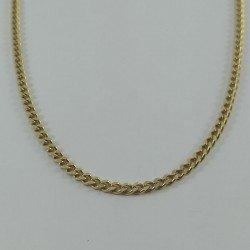 Cadena barbada de oro de primera ley 18 quilates
