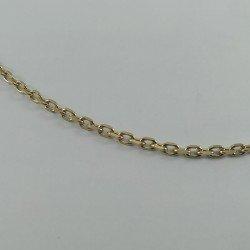 Cadena forzada en oro de primera ley, 18 k