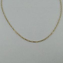 Cadena forxa de eslabones largos en oro de ley 18 quilates