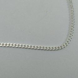 Cadena barbada de plata de ley 925 mls. 50 cm.