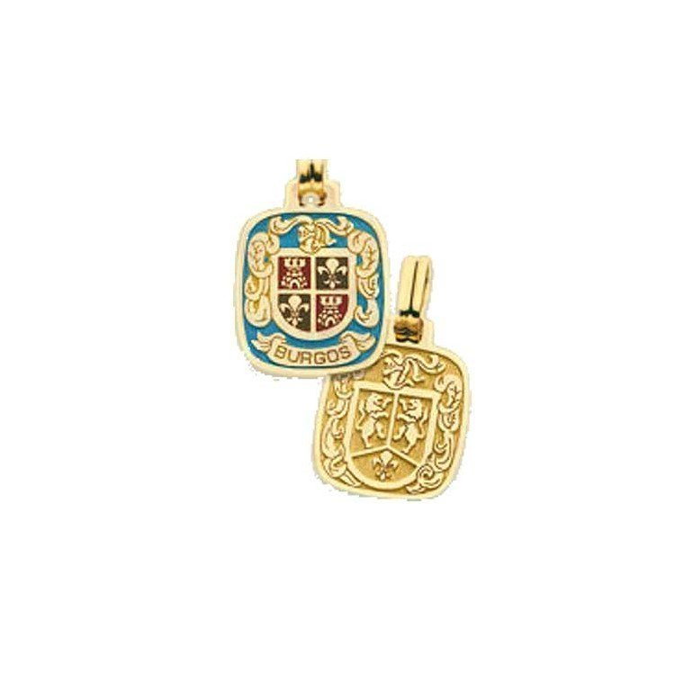 copy of Sello con escudo heráldico del apellido en oro de 18 quilates