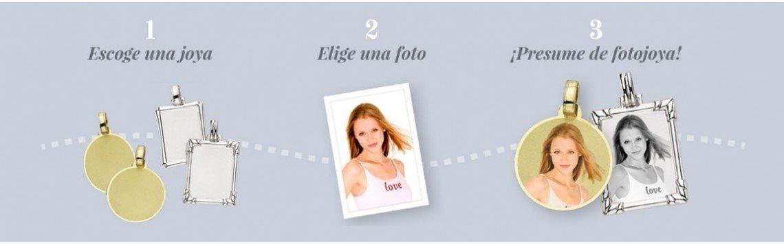 Personalisierter Schmuck und Geschenke mit eingravierten Fotos.