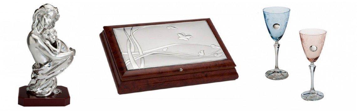 Artículos de regalo de joyería en plata, bronce, madera, cristal...