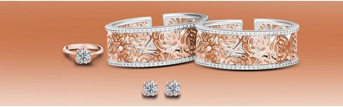 Bijoux plaqués or 18 carats. Bracelets et colliers remplis d'or.